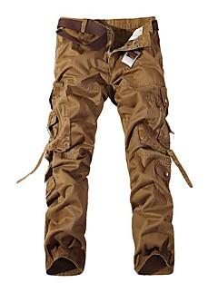 tanie Turystyczne spodnie i szorty-Męskie Spodnie cargo Na wolnym powietrzu Wiatroodporna Zdatny do noszenia Sporty zimowe Zima Spodnie Multisport