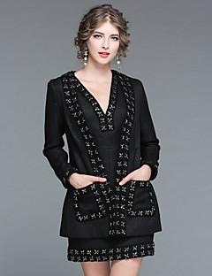 Χαμηλού Κόστους EWUS-Γυναικεία Όρθιος Γιακάς Σετ Στάμπα Πλέξιμο Φορέματα