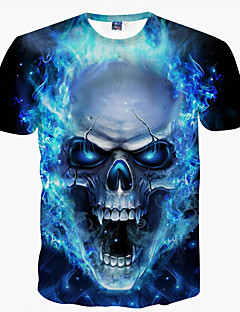halpa -Miehet Lyhyt hiha Ohut Pyöreä kaula-aukko Polyesteri Kaikki vuodenajat Vapaa-aika Katutyyli Punk & Goottityyli Päivittäin Klubi T-paita,