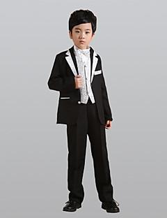 זול חליפות לנושאי הטבעת-זהב כסף פוליאסטר חליפה לנושא הטבעת  - 6 כולל ג'קט אבנט למותניים וסט חולצה Pants עניבת פרפר
