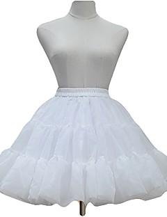 cheap Lolita Fashion Costumes-Sweet Lolita Dress Princess Lolita Women's Girls' Skirt Petticoat Cosplay White Black Sleeveless Long Sleeves Ankle Length Midi