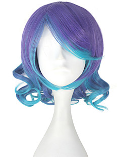 billige Anime cosplay-Cosplay Parykker Vokaloid Megurine Luka Anime Cosplay-parykker 33 CM Varmeresistent Fiber Dame