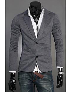 tanie Męskie swetry i swetry rozpinane-Męskie W serek Rozpinany Jednolity kolor Długi rękaw