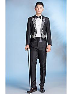 お買い得  スーツ-スーツ - ヴィンテージ フラワープリント スパンコール