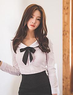 billige Skjorte-Krave Dame - Ensfarvet Arbejde Skjorte