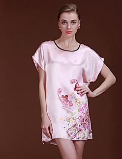 tanie Piżamy-Damskie Seksowna Satyna i jedwab Piżama-Kwiatowy,Kwiaty