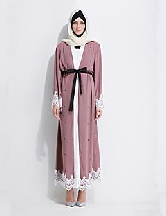 tanie Etniczne & Cultural Kostiumy-Moda Sukienki Jalabiya Sukienka Kaftan Damskie Festiwal/Święto Kostiumy na Halloween Różowy Drukowany