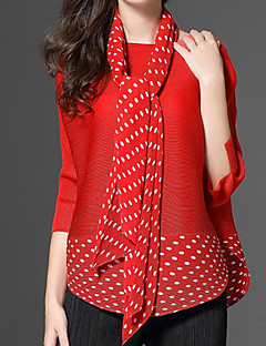 cheap Women's Tops-Women's Cotton Shirt - Solid Polka Dot