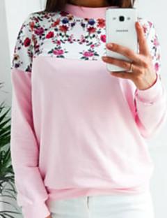 tanie Damskie bluzy z kapturem-Damskie Bluzy z kapturem i bluzy - Jendolity kolor, Nadruk / Jesień / Zima