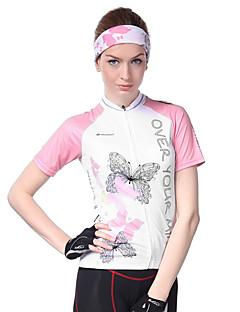 cheap Cycling Jerseys-Nuckily Women's Short Sleeve Cycling Jersey - Pink Bike Jersey, Ultraviolet Resistant, Breathable, Sweat-wicking Polyester, Lycra