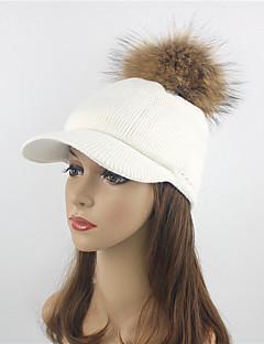 billige Hatter til damer-Dame Beanie Hatt Beret Fedora Solhatt Skilue Baseballcaps - Elegant, Ensfarget