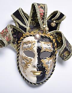 billige Masker-Karneval Venetiansk maske Masquerade Mask Svart Metall Cosplay-tilbehør Maskerade