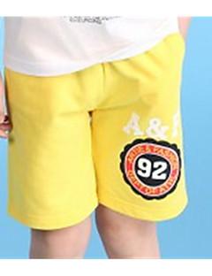 billige Drengebukser-Drenge Shorts Ensfarvet Sommer Blå Grøn Mørkegrå Navyblå Gul