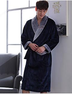 billige Herremote og klær-Herre Dress Pyjamas,Lapper Tykk Polyester Navyblå Vin