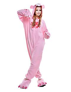 billige Kigurumi-Kigurumi-pysjamas Dyster bjørn Bjørn Vaskebjørn Onesie-pysjamas Kostume Polar Fleece Syntetisk Fiber Rosa Cosplay Til Pysjamas med