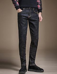 billige Herremote og klær-Herre Grunnleggende Jeans Bukser Ensfarget