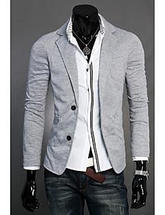 お買い得  メンズセーター&カーデガン-男性用 長袖 Vネック カーディガン - 純色 Vネック