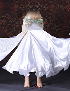 cheap Belly Dance Wear-Belly Dance Bottoms Women's Performance Lace Satin Draping Lace Split Sleeveless Dropped Skirts