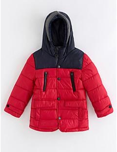 billige Jakker og frakker til drenge-Drenge dun- og bomuldsforet Ensfarvet Vinter Rød