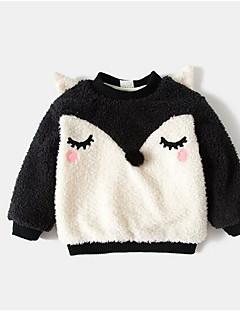 billige Hættetrøjer og sweatshirts til piger-Pige Hættetrøje og sweatshirt Ensfarvet, Bomuld Bambus Fiber Forår Kortærmet Vintage Sort Lyserød Grå