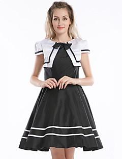 billiga Lolitaklänningar-Söt Lolita Femtiotal Klänningar Cosplay Svart Kortärmad Knälång