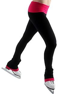 abordables Vestido de Patinaje Sobre Hielo-Pantalones de patinaje artístico Mujer Chica Patinaje Sobre Hielo Pantalones/Sobrepantalón Negro Licra Elástico Rendimiento Práctica Ropa