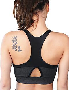 billige Løbetøj-Racer Bagside SportsBH'er Vatteret Medium støtte Til Yoga / Løb - Lilla / Grå Hurtigtørrende, Vindtæt, Åndbarhed Dame Bomuld