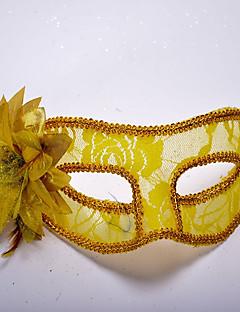 billige Halloweenkostymer-Klassisk Masquerade Mask Svart Gul Rød Blå Hvit Plastikker Cosplay-tilbehør Halloween Maskerade