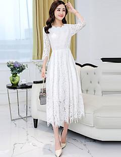 96799a76b92 Women s Lace Plus Size Daily Boho Maxi Sheath Swing Dress - Solid Colored  Lace V Neck Spring Black Pink Gray XL XXL XXXL