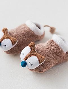 billige Undertøj og sokker til piger-Pige Trikotage Ensfarvet, Bomuld Vinter Sødt Elastisk Brun