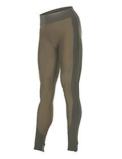 billige Løbetøj-Dame Løbetights - Kakifarvet Sport Blomstret Tights / Leggins Sportstøj Hurtigtørrende, Butt Lift