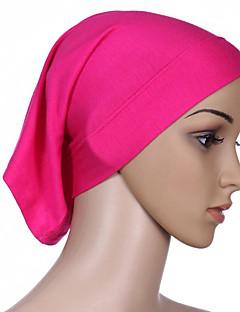 baratos Costumes étnicas e Cultural-Fantasias Egípcias Hijab / Khimar Mulheres Festival / Celebração Trajes da Noite das Bruxas Laranja Amarelo Café Rosa Vermelho Sólido