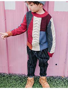 お買い得  男児 セーター&カーディガン-男の子 お出かけ カラーブロック ポリエステル セーター&カーデガン 春 長袖 カジュアル レインボー