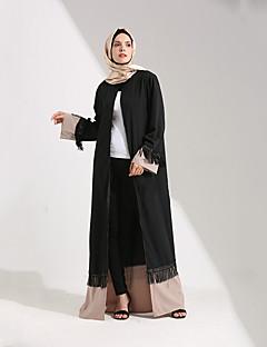tanie Etniczne & Cultural Kostiumy-Moda Sukienka Kaftan Abaya Arabian Dress Damskie Festiwal/Święto Kostiumy na Halloween Black Jendolity kolor