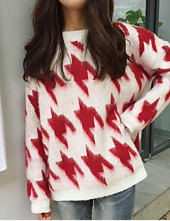 baratos Suéteres de Mulher-Mulheres Manga Longa Pulôver - Lolita