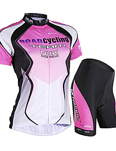 cheap Cycling Jersey & Shorts / Pants Sets-Nuckily Women's Short Sleeves Cycling Jersey with Shorts - Blue Pink Bike Shorts Jersey Clothing Suits, Waterproof, Ultraviolet
