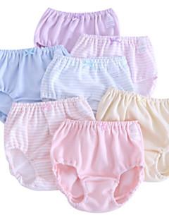 billige Undertøj og sokker til piger-Pige Undertøj Ensfarvet Stribet, Bomuld Alle årstider Simple Uelastisk Lyserød