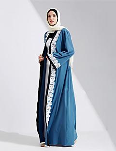 baratos Costumes étnicas e Cultural-Fantasias Vestido árabe Mulheres Festival / Celebração Trajes da Noite das Bruxas Azul Sólido
