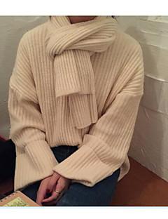 baratos Suéteres de Mulher-Mulheres Trabalho Manga Longa Pulôver - Sólido