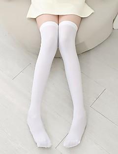 tanie Odzież dla dziewczynek-Wyroby pończosznicze Inne Dla dziewczynek Jendolity kolor Lato Prosty Elastyczny/a White
