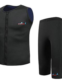 お買い得  ウェットスーツ/ダイビングスーツ/ラッシュガードシャツ-Bluedive 男性用 ショートウェットスーツ 2mm ネオプレン ダイビングスーツ 保温, 速乾性 水泳 / 潜水 / サーフィン パッチワーク