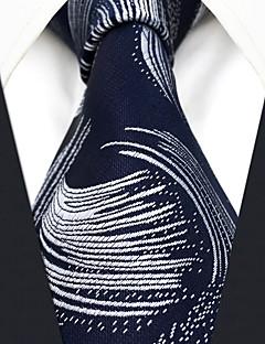 billige Slips og sløyfer-menns festverk rayon slips - geometrisk fargeblokk jacquard