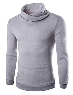 tanie Męskie swetry i swetry rozpinane-Męskie Golf Pulower Jednolity kolor Długi rękaw