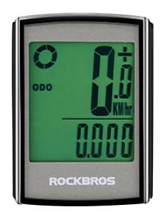 billiga Cykling-ROCKBROS BC355 Pulsgivare Hastighet kadenssensor Cykeldator Vattentät Trådlös bakgrundsbelysning Brända Kalorier Hastighetsmätare