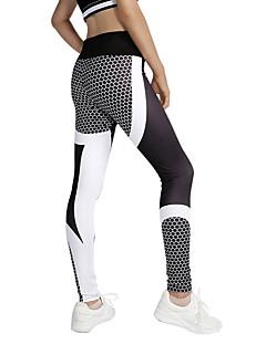 billiga Träning-, jogging- och yogakläder-Dam Lappverk Yoga byxor sporter Blommig / Botanisk Leggings Löpning, Fitness, Gym Sportkläder Yoga Elastisk
