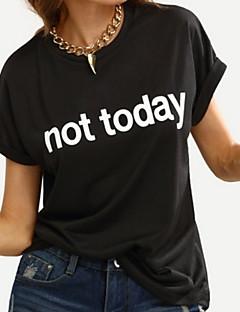 Χαμηλού Κόστους Κάτω Από $9.99-Γυναικεία T-shirt Γράμμα Φαρδιά / Καλοκαίρι