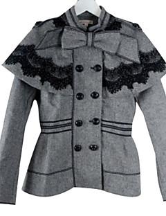 cheap Women's Blazers & Jackets-Women's Jacket - Solid, Oversized V Neck
