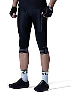billige Sykkelklær-SANTIC Herre 3/4 sykkeltights Sykkel Bunner Ensfarget, Klassisk Svart Sykkelklær / Avanserte sømteknikker