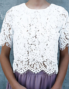 preiswerte Damen-Oberteile-Damen Solide T-shirt Spitze Rückenfrei