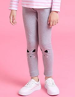 billige Bukser og leggings til piger-Geometrisk Pigens Daglig Polyester Forår Kjole Vintage Lyserød Grå